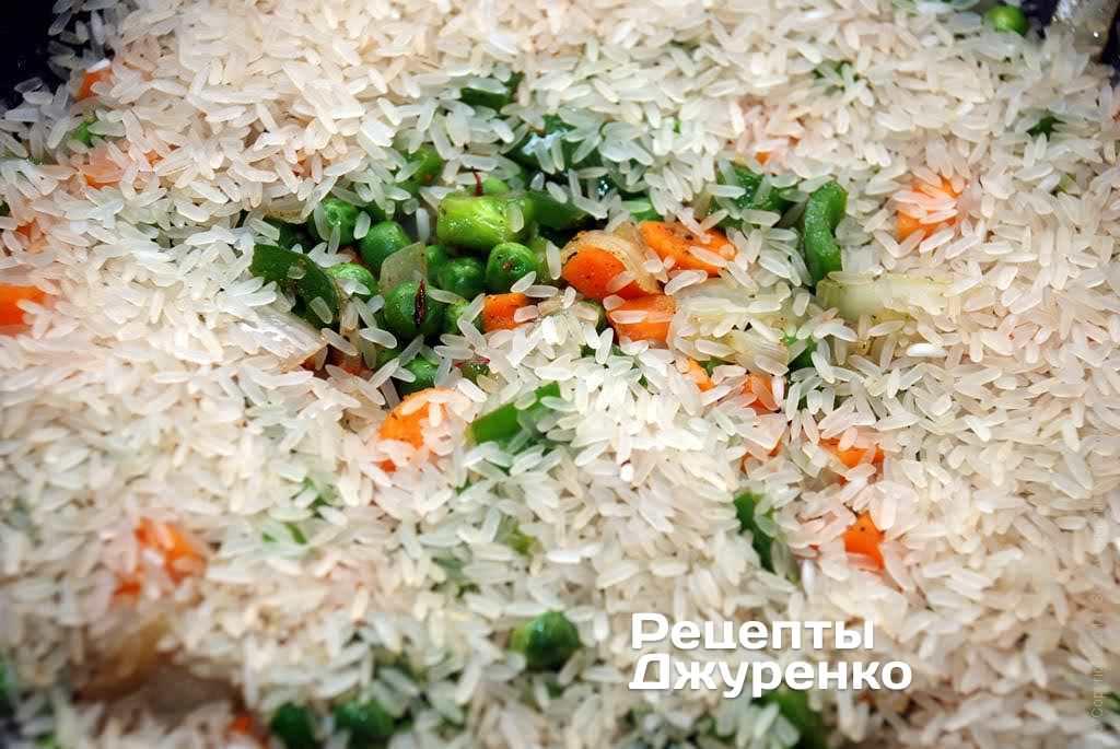 рис с овощами рецепт с фото на сковороде