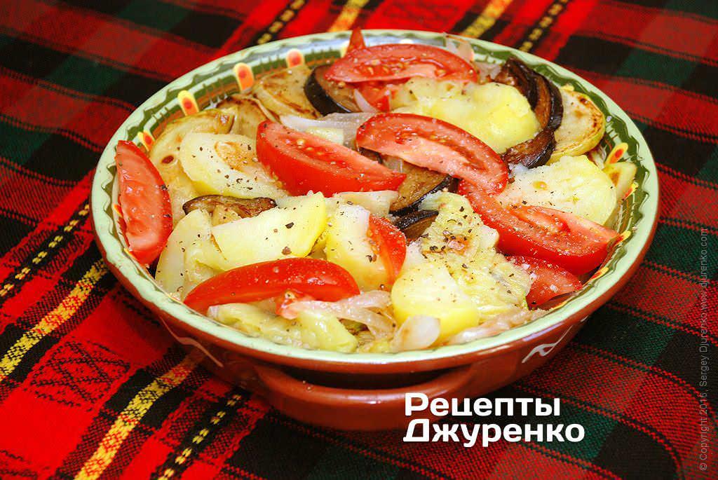 салат из овощей запеченных в духовке с фото